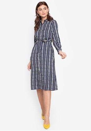 Cortefiel blue Midi Shirt Dress 1CFABAA50880F0GS_1