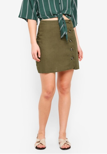 Cotton On brown Woven Mini Military Skirt FA131AAF728FE1GS_1