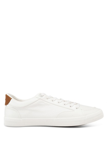 Burton Menswear London white White Alec Basic Trainers 4EC2FSHA7A4EC7GS_1