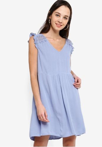 Something Borrowed 藍色 Back Lace Panel Swing Dress BDB8FAA818B652GS_1