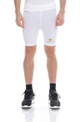 Tiento white Tiento Man Short Pants White Celana Legging Pria Olahraga Renang Sepakbola Lari 9009DAA313595DGS_1