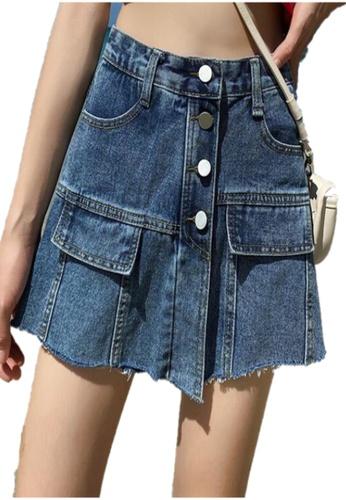 Sunnydaysweety blue New Denim Skirt Pants CA2020071401BL 125F9AA9B39FE1GS_1