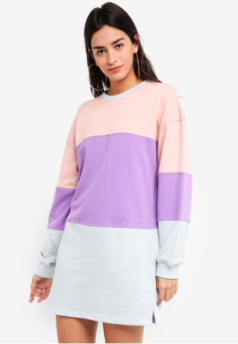 MISSGUIDED multi Long Sleeve Oversized Sweatshirt Dress 02313AA3011ECCGS_1