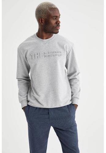 DeFacto grey Man Knitted Sweat Shirt 52D46AA4D1AD6CGS_1
