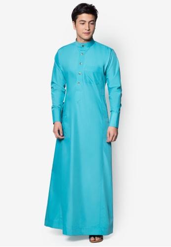 Amar Amran blue Jubah A Slim Fit C879AAAC4F723DGS_1