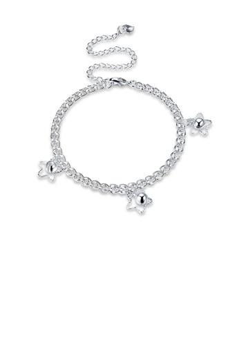 Glamorousky silver Simple Fashion Star Ball Bead Anklet EB843ACBD42128GS_1