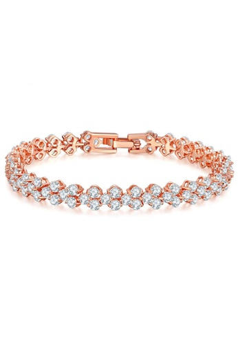 YOUNIQ gold YOUNIQ Dazzling 18K Rosegold Plated Silver Bracelet A6092AC6B9FFB4GS_1