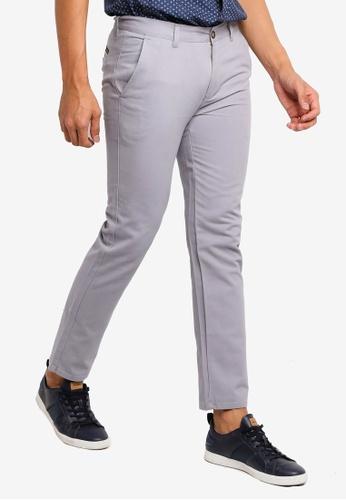 Fidelio grey Slim Straight Cotton Pants BBF97AAE3043F5GS_1