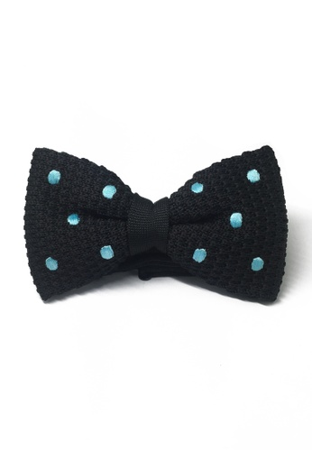 Splice Cufflinks black Webbed Series Baby Blue Polka Dots Black Knitted Bow Tie SP744AC84UBNSG_1