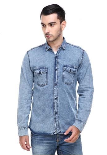 Hamlin n/a Hamlin Dwan Casual Shirt Baju Kemeja Jeans Pria Lengan Panjang Material Denim ORIGINAL 11DC6AA5E8B57DGS_1