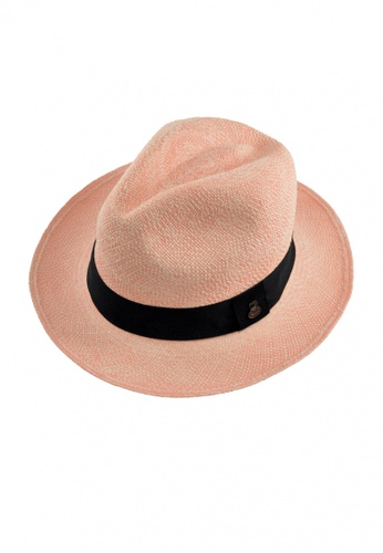 ECUA-ANDINO black and pink Vintage Pink Panama Hat 9F7D2ACB3C143EGS_1