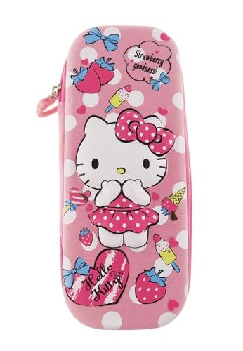 Hello Kitty pink Hello Kitty Strawberry Eva Pencil Case C7592KCDFEF9DEGS_1