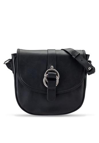ZALORA black Buckle Detail Sling Bag 68212ACBC6877BGS_1