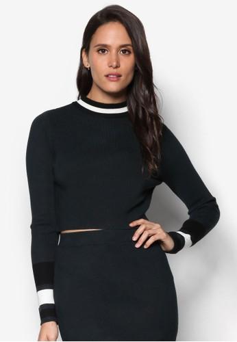Milaesprit專櫃no 條紋羅紋針織長袖衫, 服飾, 服飾