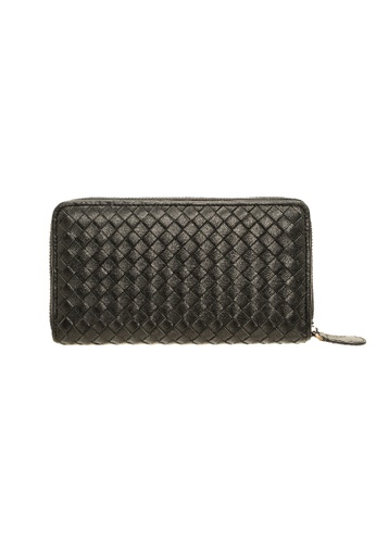 Jack Studio black Jack Studio Intrecciato Weave Leather Zip Around Long Wallet EA0D6AC50CC460GS_1