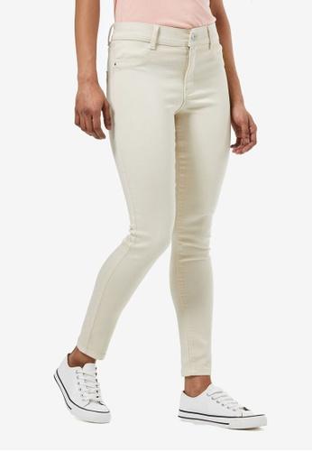 Dorothy Perkins white Petite Cream Frankie Jeans 01230AAE24DEEAGS_1
