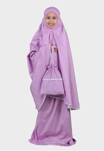 QUTN Telekung Polka in Lavender Purple 0AE85KC38A8A06GS_1
