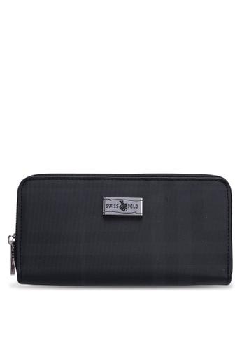 Swiss Polo black Zipper Wallet 323BEAC327955DGS_1