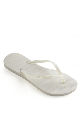Havaianas white Havaianas Slim Flip Flops 8A5C9SH4CFC23FGS_1