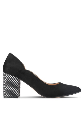 ZALORA black Textured Detailed Heels AF310SHF436232GS_1