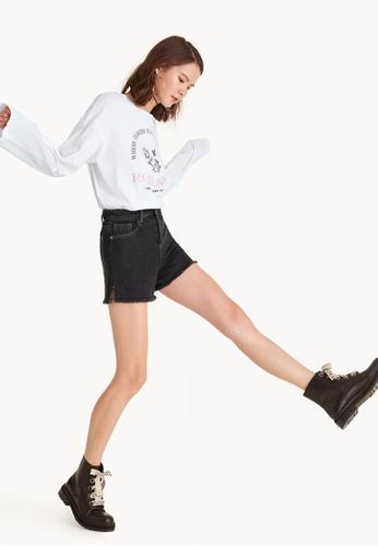 Pomelo black High Waist Denim Shorts - Dark Wash 4E0E4AA183B5A4GS_1