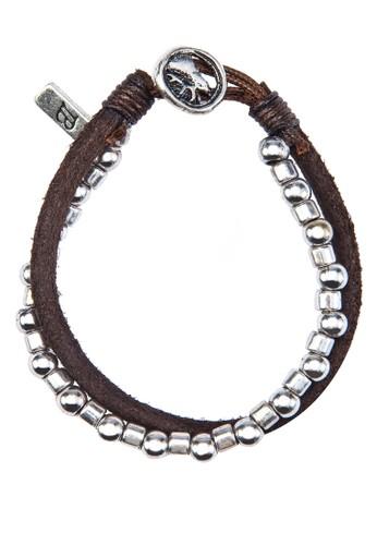 仿皮金屬雙圈手鍊esprit outlet台北, 飾品配件, 手環