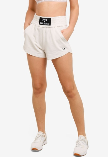 Under Armour white UA Project Rock Terry Shorts EE118AAD4459DCGS_1