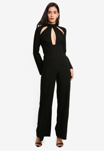 c12a99ecc Buy MISSGUIDED Keyhole Long Sleeve Jumpsuit Online on ZALORA Singapore