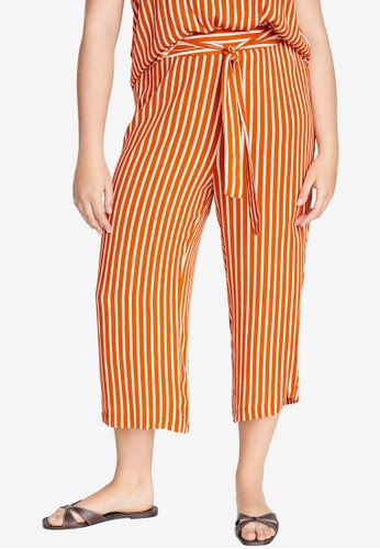 Violeta by MANGO orange Belt Culottes Trousers 1DD60AAE2B69E3GS_1