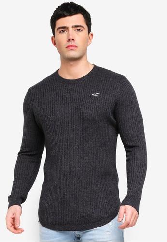 Hollister 黑色 修身針織毛衣 EF0E5AA2AD57D6GS_1