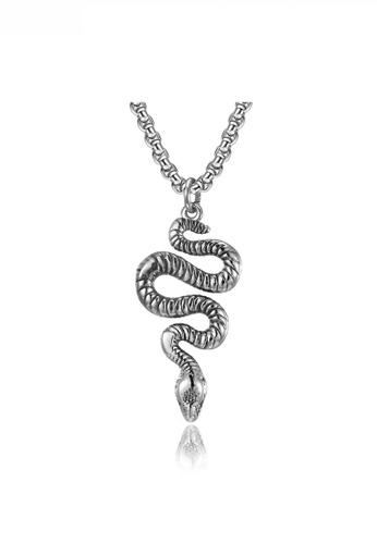 HAPPY FRIDAYS Snake Pendant Necklace JW QF-DZ372 408CCACF02DB37GS_1