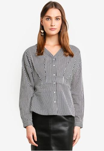 Vero Moda white Maji Long Sleeve Pin Shirt 1797FAA121BA3CGS_1