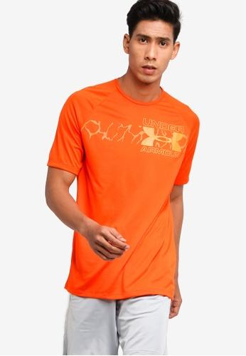 Contratado Cerdo acidez  Buy Under Armour UA Tech 2.0 Graphic Short Sleeve T-Shirt | ZALORA HK