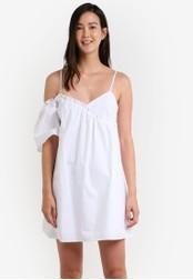 Mango white Asymmetric Poplin Dress MA193AA0RAW0MY_1