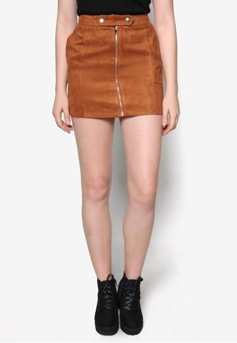 Love 拉鍊短裙, 服飾, 裙zalora taiwan 時尚購物網鞋子子