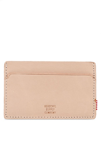 Herschel beige Felix Leather Card Holder 1307CACBA48A50GS_1