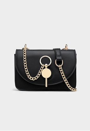 Lara black Women's Stylish Chic Magnetic Closure Chain Leather Shoulder Bag Cross-body Bag - Black F9F1FACCDF4A23GS_1