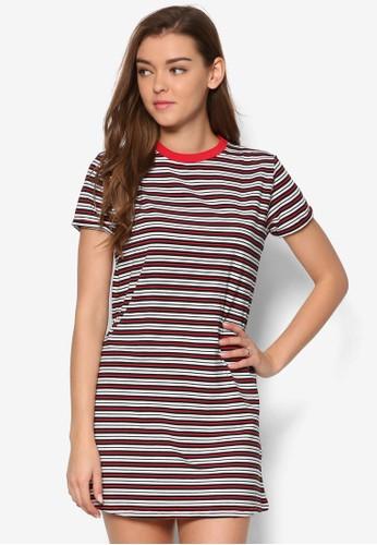 Ringer 條紋連身裙TEE,esprit 衣服 服飾, 服飾