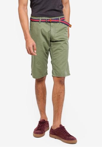 ESPRIT 褐色 Woven Regular Shorts 2B1D3AA091F97FGS_1