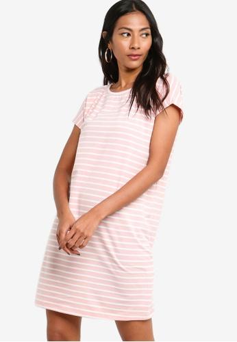 ZALORA BASICS pink and multi Basic Jersey T-Shirt Dress 7A042AACF65E66GS_1