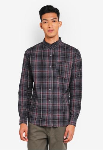 Cotton On grey Brunswick Shirt 493F8AA1FCB405GS_1