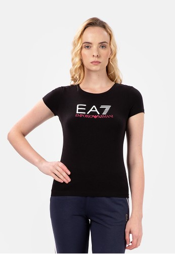 EA7 Emporio Armani black SHINY T-SHIRT E4021AA82BBA76GS_1