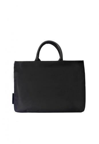 GreyPlus black HANE Laptop Documents Bag GR720AC0FXWOSG_1