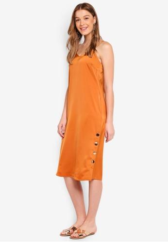Y.A.S orange Button Strap Dress 2AF8EAA9CEFAE1GS_1