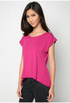 High Low Pink Top
