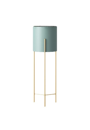 DILAS HOME green Nordic Plant Pot with Gold Stand (Green) - Big EC96AHL5620946GS_1