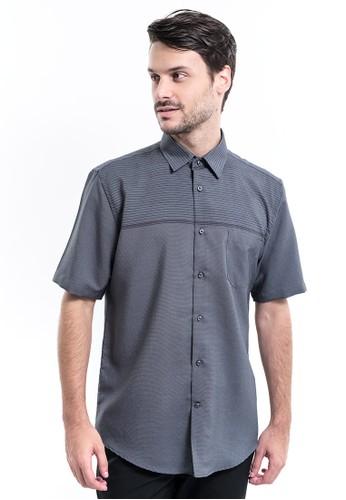 MANLY grey Manly Kemeja Regular Fit Striped Murdock Grey D3CA3AA39156CEGS_1