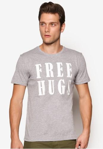 『免費擁抱』文字esprit 香港設計T 恤, 服飾, 服飾