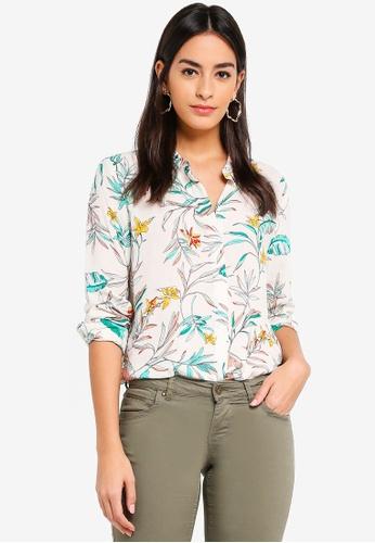 Vero Moda beige Frida Palm Shirt 02F46AA100B1F9GS_1