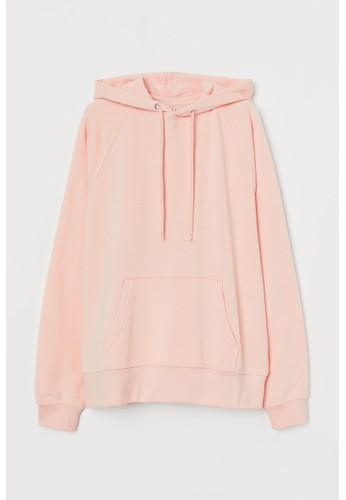 H&M pink Hooded top 45F86AA513C48CGS_1